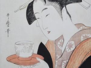 Retrato de Naniwaya Okita. Kitagawa Utamaro