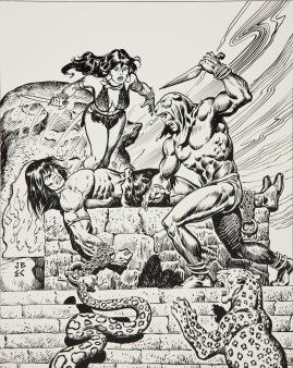 Conan y Belit. John Buscema