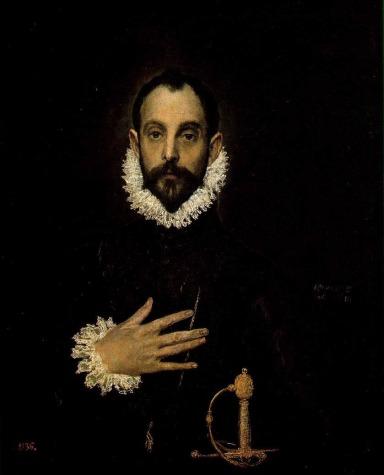 El Greco. El caballero de la mano en el pecho