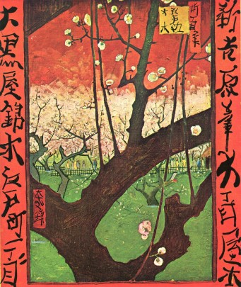 Japonaiserie--Plum-tree-in-Bloom-after-Hiroshige-1887