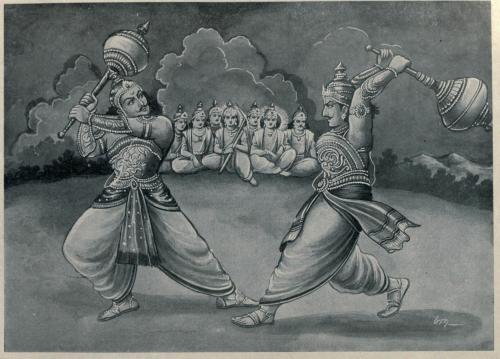 Un-combate-en-el-mahabharata