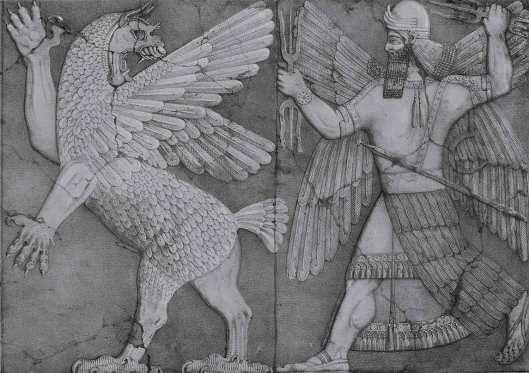 El-dios-solar-se-enfrenta-al-monstruo-del-caosninurta-dios-de-la-mitologia-mesopotamica