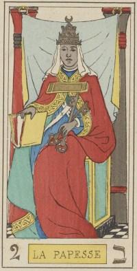 La Sacerdotisa. El Tarot de los Iluminadores de la Edad Media. Traducción de Hugo de Roccanera