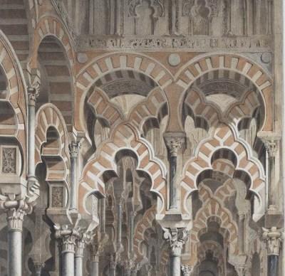 Grabado de la Mezquita de Córdoba